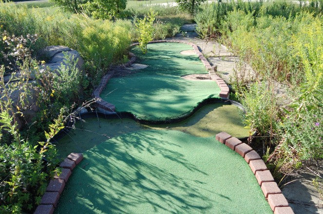 Mini-golf hole before renovation ...
